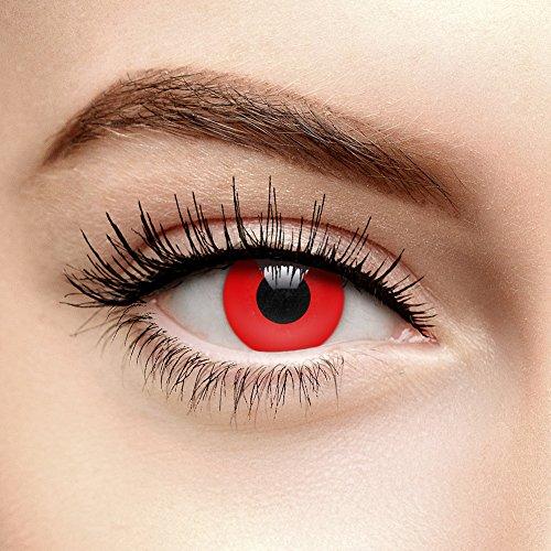 Chromaview Lentillas de Color Rojo Halloween de 30 Días - Sin Graduación