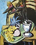 Max Beckmann Stilleben mit Strelizien und gelben Orchideen Poster Bild Kunstdruck 71x55,8cm