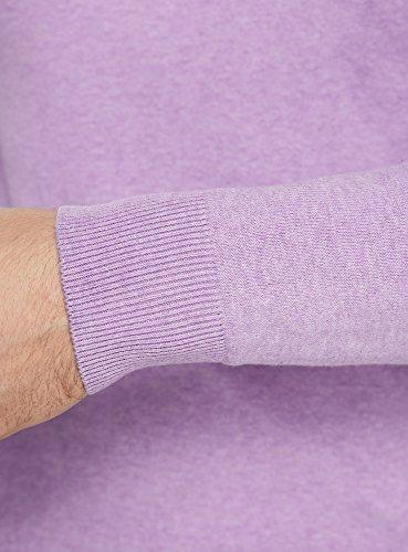oodji Ultra Homme Pull Basique à Col V Violet (8000M)