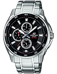 Casio Edifice Analog Black Dial Men's Watch - EF-334D-1AVDF (ED420)