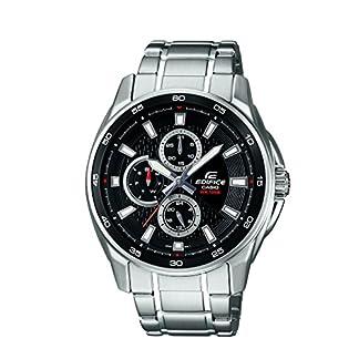 Casio Edifice Analog Black Dial Men's Watch – EF-334D-1AVDF (ED420)