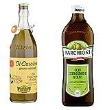 Farchioni Il casolare grezzo naturale 1L Extra nativ Natives Olivenöl olio oliva + Farchioni Classico Extra Natives nativ Olive Olivenoel 1 L olio vergine oliva