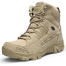Botas Militares Hombres Tácticas Mujer Trekking Antideslizantes Resistentes Al Desgaste Zapatos Unisex-Adulto para Actividades