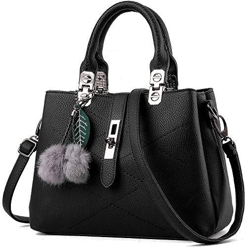 PARADOX (LABEL) Ladies Hand Bag Womens Purses Satchel Shoulder Bags (Black)