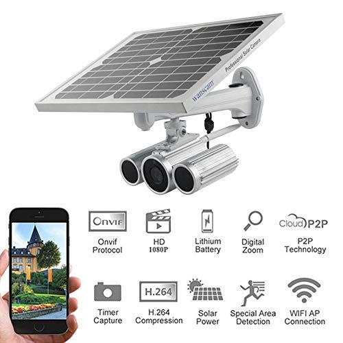 SPFAZJ wasserdichte 1080P-Sicherheits-Wifi-Sonnenenergie-IP-Kamera im Freien mit Starlight-Nachtsicht in 16G TF-Karte