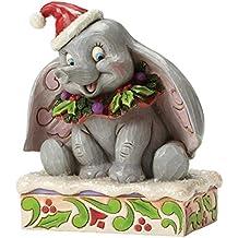 Enesco Disney Tradition By Jim Shore Natale Dumbo 75E Anniversario, Pvc, Multicolore, 8x9x12 cm - Enesco Natale