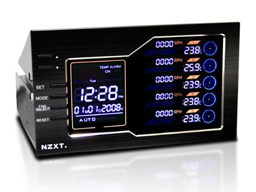 NZXT Sentry LX Rhéobus à écran LCD tactile pour 5 ventilateurs