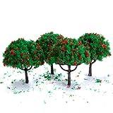 Unbekannt 20x Laubbäume Bäume Landschaft Mit Rot Blumen Spur Modell Baum Bäume