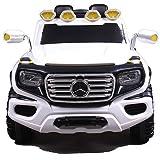 SIMRON-Mercedes G ener-G-force Geländewagen Kinderauto Elektro Kinderfahrzeug Ride-On 12V Kinder Elektroauto (Weiss)