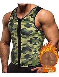 Men Waist Trainer Vest Weight Loss Hot Neoprene Corset Body Shaper Zipper Sauna Tank Top Workout Shirt