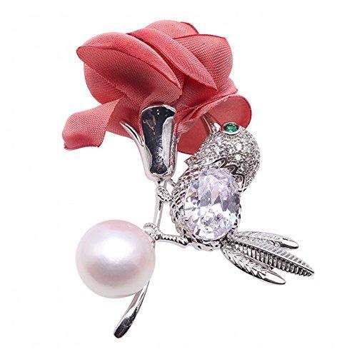 jyx Lovely–13mm weiß Pearl Brosche Pins (Weiß Schuhe Symbol)