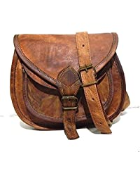 """9"""" Womens Vintage Genuine Brown Leather Messenger Shoulder Cross Body Bag New /Side Bags For Girls & Women Daily..."""