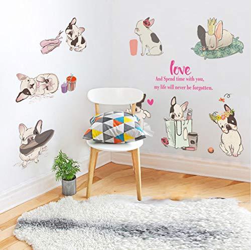 Cczxfcc Cartoon Diy Schnitt 8 Französisch Bulldog Wandaufkleber Für Kinderzimmer Kinderzimmer Schlafzimmer Tiere Wohnkultur Aufkleber Hunde Wandbilder