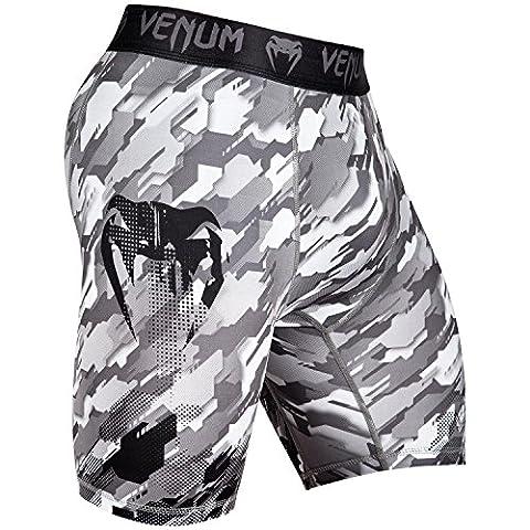 Venum Men's Tecmo Vale Tudo Shorts, Black/Grey, Medium