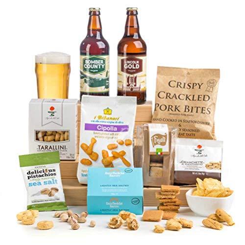 Craft Beer & Bar Snacks Hamper Gift Box - Gift Idea for Him