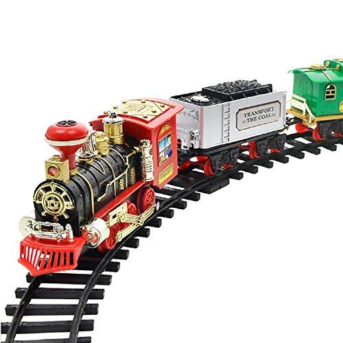 Zug Toys, Kinder Elektrisches Spielzeug Fernbedienung Transport Auto Elektro Dampf Rauch RC Zug Set Modell Spielzeug Weihnachts Geschenk