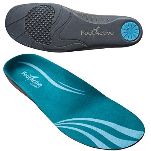FootActive COMFORT Premium - Federleichter Laufkomfort für Füße, Bein und Rücken, speziell bei Fersensporn, Blau, 42 - 43 (M)