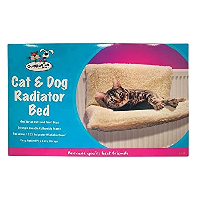Invero® Cat Dog Puppy Pet Radiator Bed Warm Fleece Beds Basket Cradle Hammock Animal