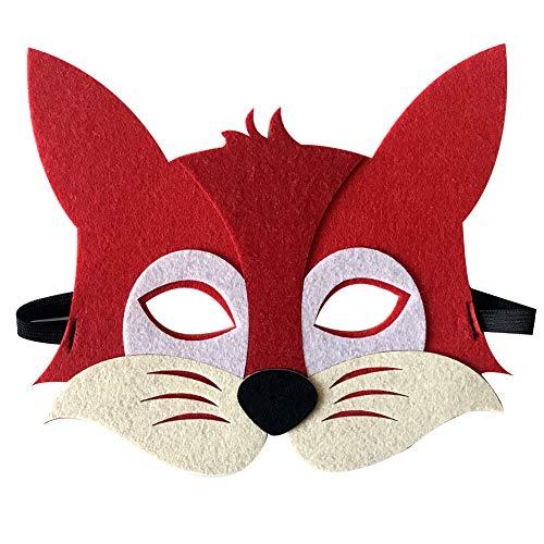 SJZC Maske Halloween Cosplay Cartoon-Muster Tier Masken Handarbeit Kind ()