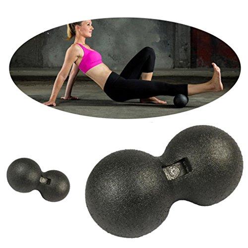 Juego de accesorios para yoga Sannysis bolas de auto-masaje de yoga barata en diferentes tamaños massage ball solución ideal para practicar yoga, pilates, gimnasia (8cm, color negro)