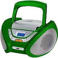 Lauson CP444 Radio CD Portátil con USB color Verde