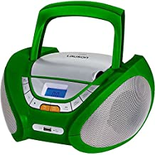 Lauson CP444 Radio CD Portátil con USB color Verde