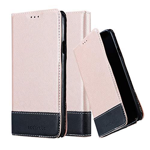 Cadorabo Hülle für Samsung Galaxy Note 3 NEO in ROSÉ Gold SCHWARZ - Handyhülle mit Magnetverschluss, Standfunktion und Kartenfach - Case Cover Schutzhülle Etui Tasche Book Klapp Style