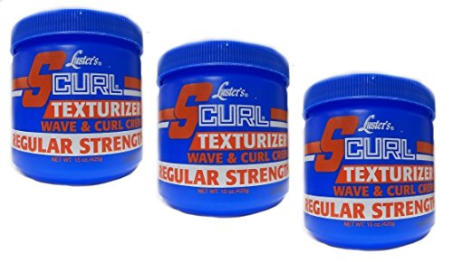 3x Lusters Luster SCURL Texturizer Wave & Curl Creme REGULAR STRENGTH 425g (insgesamt - 1275g) - S-curl Relaxer