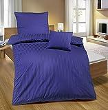 biberna 0065699/289/001 Bettwäsche, Baumwollsatin, 80 x 80 + 135 x 200 cm, kornblau