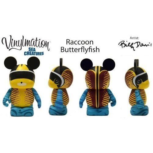 'Disney Vinylmation Sea Creatures 3 Raccoon Butterfly Fish by Disney
