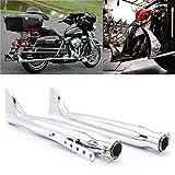 YUQINN Moto Partes 2pcs retro de la motocicleta espina de pescado del silenciador de escape Silenciadores Tubería For Harley Sportster 1200 XL883 del crucero de Chopper Bobber Cafe Racer