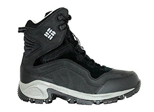 Columbia Womens Backramp Waterproof Techlite Snow Boots-Black/Charcoal Black