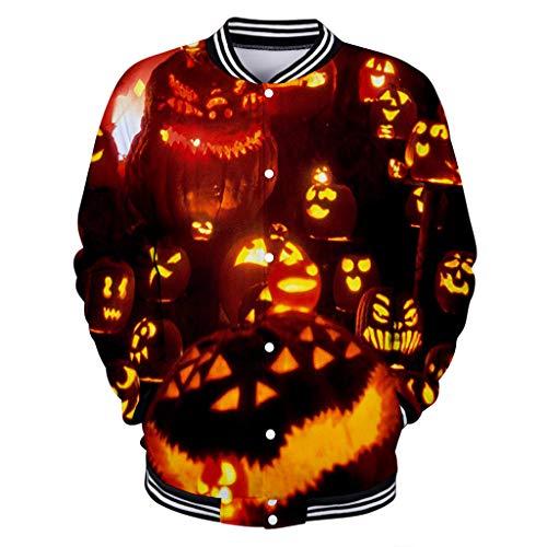 Beonzale Halloween kostüm Frauen-Halloween-Horror-Druck-Partei-Lange Hülsen-Pullover-mit Kapuze Baseballjacke