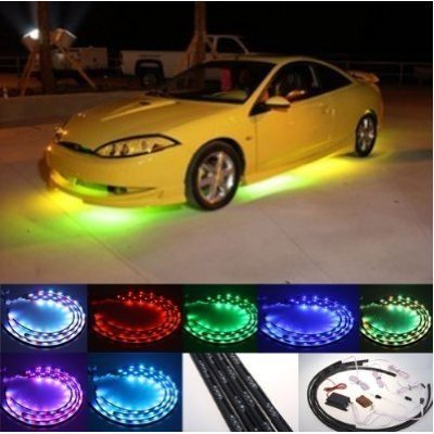 Automotive Neon Light Remote Control 7 Color LED Under Car Glow Underbody System Neon Lights Kit