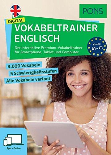 PONS Digital Vokabeltrainer Englisch: Der interaktive Premium-Vokabeltrainer für Smartphone, Tablet und Computer - Kostenlose Englisch-wörterbuch