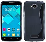 S-Line TPU SchutzHülle für Alcatel One Touch Pop C7 (7041D) Silikon Hülle in Schwarz @ Energmix