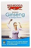 THREE PACKS of Red Kooga Ginseng & Ginkgo Biloba 32 Tablets from RED KOOGA