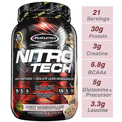 Muscletech Performance Series Nitro-Tech (2lbs) Lucky Marshmallow, 900 g - 2 Lb Muskelaufbau