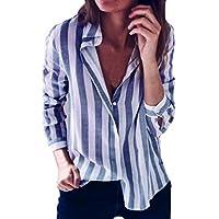 Blusas Mujer, ASHOP Casual a Rayas Suelto Escote en v Sudaderas Moda Elegantes Ropa en Oferta Camisetas Manga Larga Tops de Fiesta Abrigos Invierno de Mujer Otoño