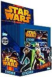 Topps TO06020 - Star Wars - Clone Wars Sammelsticker, 50 Booster, 5 Sticker