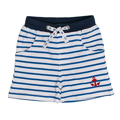 SALT AND PEPPER Baby-Jungen B Bermuda Pirat Stripe Shorts, Blau (Strong Blue 465), 68 (Piraten-baby)