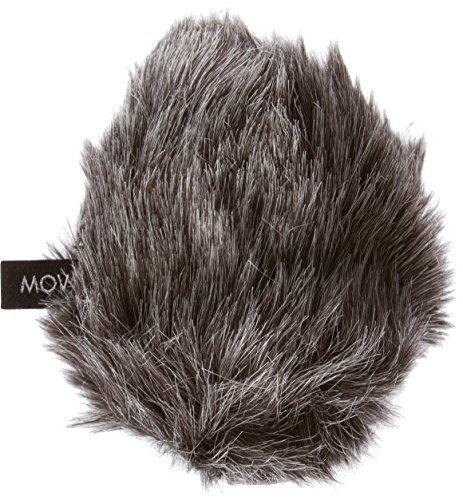Movo WS-G2 antivento da esterni, manicotto in lana grigia per microfoni medi fino a 3'(7.6cm) X 80mm (L x D) - per Rode Videomic Pro VMP e altri
