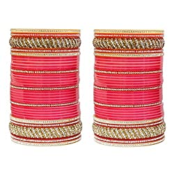 MUCH MORE Traditional Fashion Beautiful Lac Kada Bridal Chura Wedding Jewelry For Women & Girls Bangles