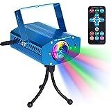 【7 Colores】 Luces Discoteca Disco Club DJ Luz de Escenario de la Fiesta Iluminación de Efecto Escenario Mágica Luces Estroboscópicas con Control Remoto Sonido Activado Color Giratorio para el Hogar Cumpleaños Karaoke DJ Partes Sensorial Relajación Noche Iluminación - Azul