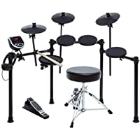 Alesis Burst Kit, Elektronisches Schlagzeug e-Drum Set Bundle mit 7 Drum Pads, Drum Rack, USB MIDI Drum Modul mit Kopfhörer-Anschluss, Drum Sticks, Hocker und Kopfhörer