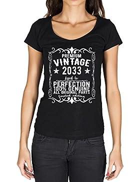 2033 vintage año camiseta cumpleaños camisetas camiseta regalo