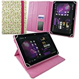 Emartbuy® ( 10 Inch ) Pink/Green Floral PU Leather Multi Angle Executive Folio Wallet Cover For Lenovo Tab 4 10 Plus Tablet PC 10.1 Inch