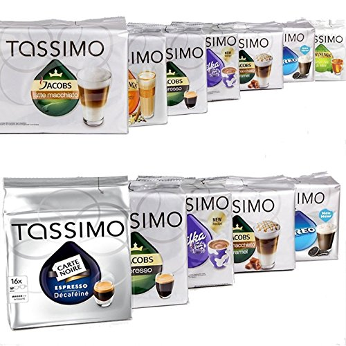 Price comparison product image MEGA VALUE Tassimo Assortment Containing 40 Factory Coffee / Tea / Chocolate Drinks Pods