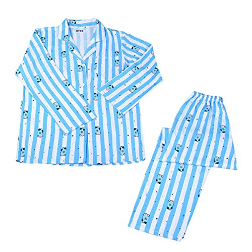 Bangtan Boys BTS BT21 Pijama Ropa de Dormir Conjunto de Tops y Pantalones Trajes de Dormir para Adultos Ocasionales Suga JIN Jimin V Jungkook JHOPE Ropa para Dormir