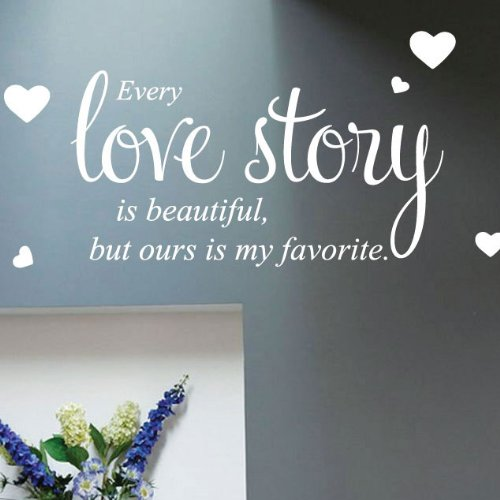 Every Love Story Wall Quote Stickers Wall Decals Words Lettering